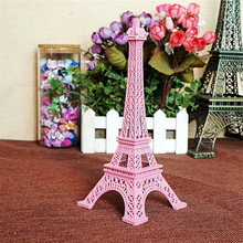 18cm Color Paris Eiffel Tower Metal Crafts Figurine Statue Europe Home Decors Souvenir Wedding Birthday Gift B