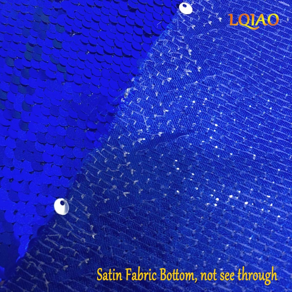 Blue Silve Sequin Fabric-007