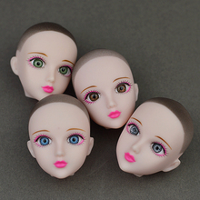 Soft Practice Makeup Doll Heads Original 3D Eye XINYI Doll Head For Barbie Doll For 1/6 BJD Doll's Practicing Makeup Head(China)