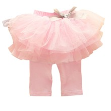 Kids Baby Girls Culottes Leggings Gauze Pants Party Skirts Bow Candy Tutu Dress 0-3Y(China)
