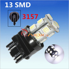 3156 3157 Pure White 13 SMD 5050 rear brake Lights LED Bulb Lamp Auto p27/7w led car bulbs Car Light Source parking 12V