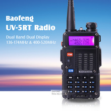 New arrived BAOFENG UV-5RT Dual Band 2 way radio VHF136-174Mhz & UHF 400-520Mhz fm Walkie talkie
