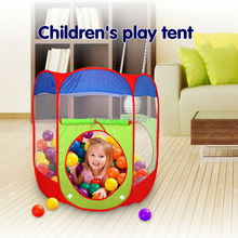 hexagonal column children's play tent ocean ball beach pool,kid's castle outdoor indoor Portable Foldable wild meal toy house