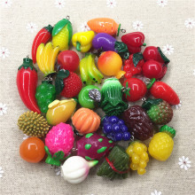 Free shipping!Set10-30pcs,hot charms.mixed designs.3D resin fruit&vegetables,resin 3D pendant for key chain/phone decoration,DIY