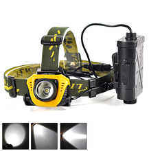 Hot Sale XPE LED Headlight 1000Lm Headlamp Head Torch lampe frontale led IR Sensor Light lampe frontale By 18650 Battery