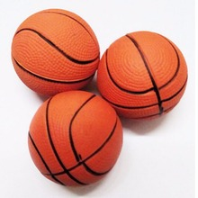 Kid Toy Squeeze Soft Foam Ball Squeezing ball Basketball Orange Hand Wrist Exercise Stress Relief 6.3CM(China)