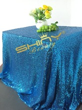 72x120in Sequin Tablecloth Aqua Table Linens for Wedding/Birthday/EveningBest Decoration(China)