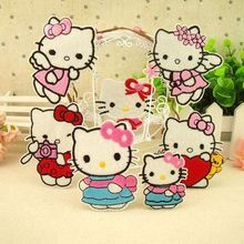 Wholesale  HELLO KITTY patch applique children accessories scrapbooking buttons sewing accessories clothing set patches wood