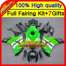 Body Repsol For HONDA 08-11 CBR 1000RR 1000 RR 08 09 10 11 40HM84 CBR1000 RR CBR1000RR Green blk 2008 2009 2010 2011 Fairing