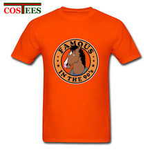 2018 New coming Popular brand Clothing famous in the 90's t shirt men's T-shirt Funny BoJack Horseman t shirt men 80's Tees Tops(China)