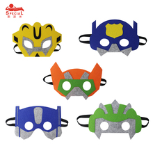 SPECIAL Child Cartoon Face Half Mask Birthday Party Christmas Masque Gift Toys for Boys Dress Up Superhero Eye mask(China)