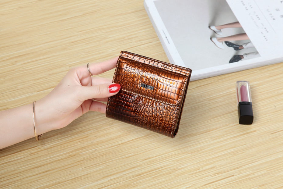 VICKAWEB Mini Wallet Women Genuine Leather Wallets Fashion Alligator Hasp Short Wallet Female Small Woman Wallets And Purses-IMG_6452