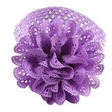Hollow Flower Hair Band Chiffon Lace Flower Crochet Headband Girls Dress Up Head band 10 Color #2415