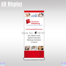 85*200cm 4PCS Tradeshow Luxurious Wide Base Aluminum Roll Up Banner Stand,Premium Advertising Pull Up Banner Display Equipment