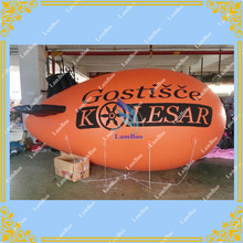 4m/13ft Long Orange Inflatable Zeppelin for Different Events/Inflatable Airship for Advertisement