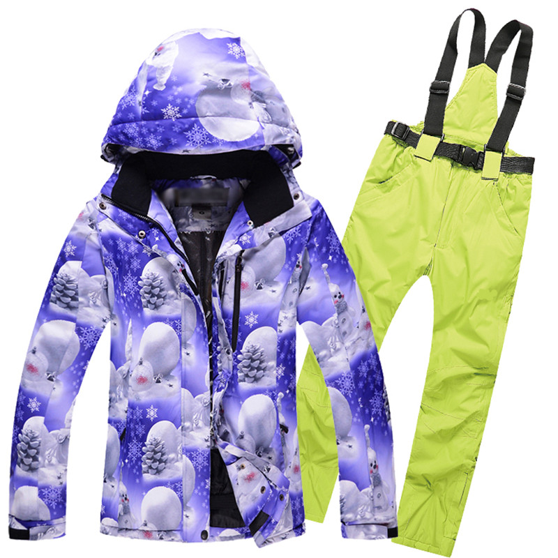 Snow New Style Women Ski Jackets Ski Pants Winter Waterproof Sport Skiing Suits Snow Girls Snowboard Set Brand<br><br>Aliexpress