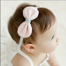 2016 Hand Crocheted Baby Hair accessories headbands Bow Headband DIY jewelry children accessories elastic Headband