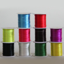Human Hair Extension Care Styling Braider Tools 1pc /1mm,10m DIY Crystal Strong Elastic Stretchy Thread/String/Wire Hair 10color