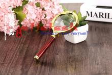 by dhl  80mm 200pcs practical  Handheld 10X Magnifier Magnifying Glass Loupe Reading Jewelry