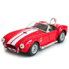 KINSMART 1:32 Alloy Diecast Metal Convertible Car Model Toy Shelby Cobra Simulated Cabriolet Pull Back Boy Cars Kids Toys
