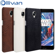 "Oneplus 3T case Leather Crocodile One plus 3 case A3000 Hard Plastic Back Cover for One plus Three 5.5"" Fundas Capa Oneplus Case"