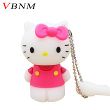 VBNM Hello Kitty Usb Flash Drive cute Pendrive 32gb Pen drive 4gb 8gb 16gb Cartoon U Disk Flash Card hot sale Memory stick(China)