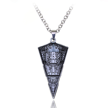Star Wars Destroyer Ship Model Metal Necklace Spacecraft Warship Triangle Pendant Alloy Accessories Movie Fans Jewelry Men Gift(China)
