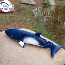 Hot sale toy model Minke whale plush toy 55cm length stuffed ocean animal realistic design soft toy