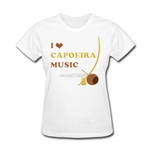 T Shirt Styles I Love Capoeira Music Natural Cotton Female Tops Hipster Tees Summer Female Short Sleeve T Shirts