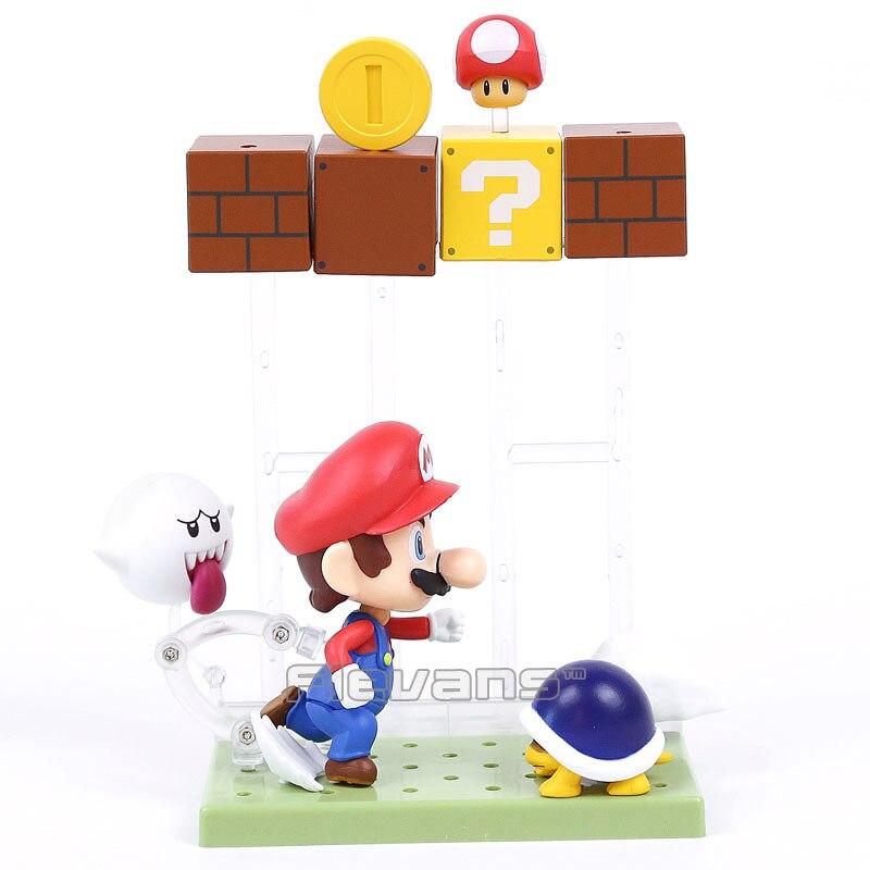Super Mario Bros Mario with Toad Koopa Boo #473 Nendoroid PVC Action Figure Collectible Model Toy<br><br>Aliexpress