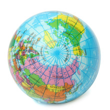 New Arrival 1pc Toy Balls Earth Globe Stress Relief Bouncy Foam Ball Kids World Geography Map Ball Funny Toy Balls(China)