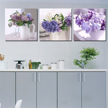 3 Panel Wall Art Canvas Paintings Floral Oil Painting For Dining Room Restaurant Decor Supply Kitchen Wall Picture Unframed