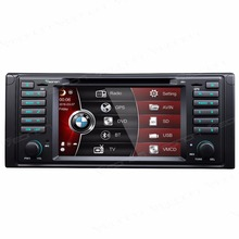 "7"" Special Car DVD for BMW E39 1996-2003 with External DVB-T Digital TV Box Support & 7 Selectable LED Button Colors"