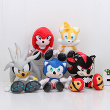 20cm 5pcs/set Sonic the Hedgehog Plush Toys Ultimate Flash Sonic Silver the Hedgehog Miles Prower Plush Doll Gift For Kids(China)