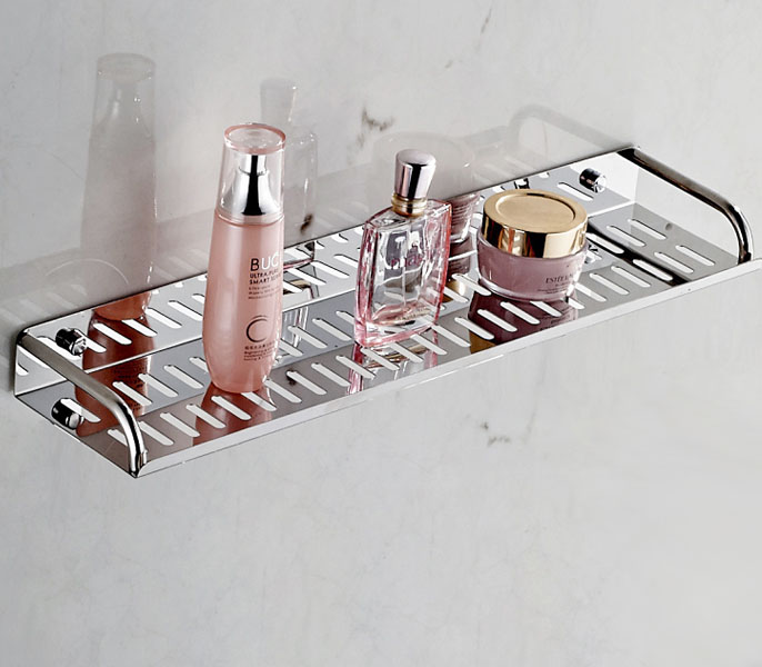 high quality 304 stainless steel wall bathroom wall shelf<br>