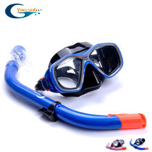 Free Shipping snorkeling combo set for Kids   Diving Mask And   Snorkel Blue YM278+YS69