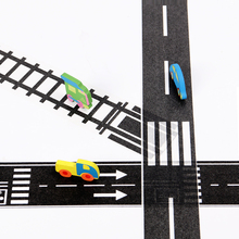 1PC Railway Road Wide Washi Tapes New Creative Traffic Road Decorative Paper Tape As Stickers for Scrapbooking Masking Tape