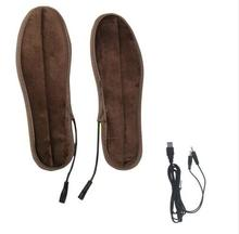 2017 Slate Heated Insoles Winter Men Women Heated Shoe Inserts usb Charged Electric Insoles for Shoes Boot Keep Warm with(China)