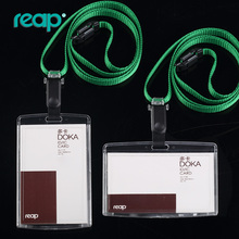 Transparent Id Card holder with muti-color lanyards Exhibition  Staff Cards(Standard size 86*54mm,can insert 2 cards)