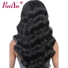 RUIYU Body Wave Wig Full Lace Front Human Hair Wigs With Baby Hair Pre Plucked Lace Wigs For Black Women Bleached Knots Non Remy(China)