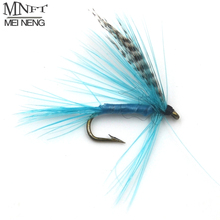 MNFT 10PCS [ 12 # ] Blue Color Quill Gordon Grizzly Wing May Fly Fishing Trout Lures