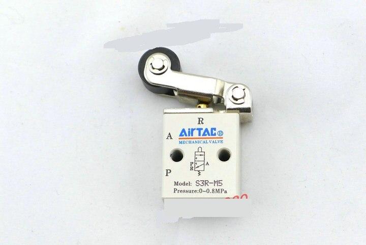 Supply AirTac genuine original mechanical valve S3R-M5.<br>