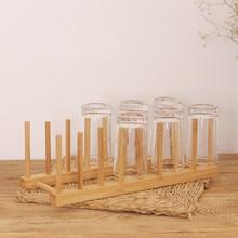 De Madera de bambú plato escurridor estante placa estante tapa de la olla  titular de gabinete de cocina organizador Pan tazas so. d7a82746f837