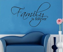 Removable Quotes Family is Forever Letter Wall Sticker Kids Living Room Vinyl Bedroom Decoracion Children Wallpapers Home Decor