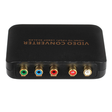 1080P HDMI to 5RCA RGB YPBPR Scaler Component Video Audio Converter For SKY HDTV(China)