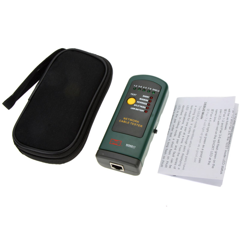 MASTECH MS6811 REMOTE NETWORK CABLE TESTER Cable tester wire line finder tester<br><br>Aliexpress