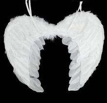 Adults children White Feather Angel  Fairy Wings Christmas Halloween Fancy Dress Costume Wing Hen Night Party Accessory 3 sizes