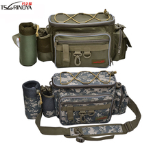 Trulinoya Multifunction Fishing Bags Pesca Outdoor Fishing Waist Pack Lure Bait Bag Shoulder Fishing Tackle Bag Tools Camouflage