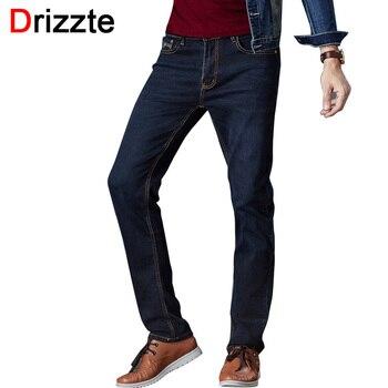 Drizzte marca dos homens calças de brim azul jeans stretch denim calças tamanho das Calças 34 35 36 38 40 42 Para Os Homens Jean