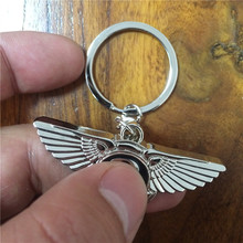 METAL CAR LOGO KEYCHAIN FOR BENTLEY KEYRING KEY CHAIN RING FOB 4S STORE GIFT BABY520(China)